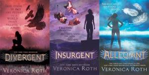DIVERGENT trilogy UK cover